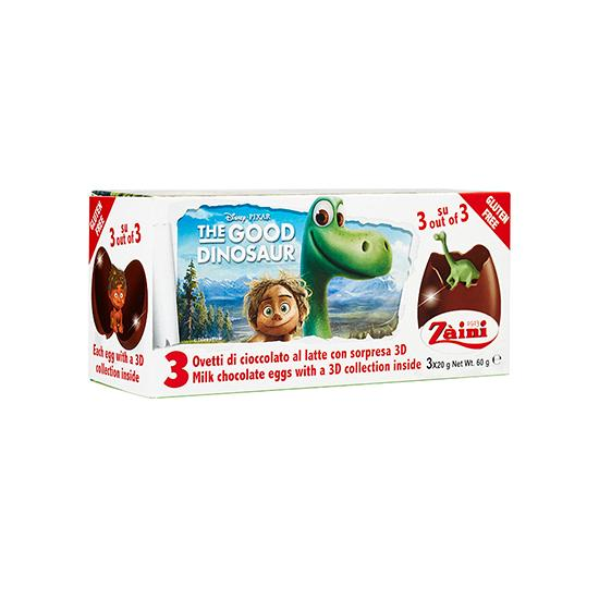 ZA-GOOD DINOSAUR CHOC EGGS 60G