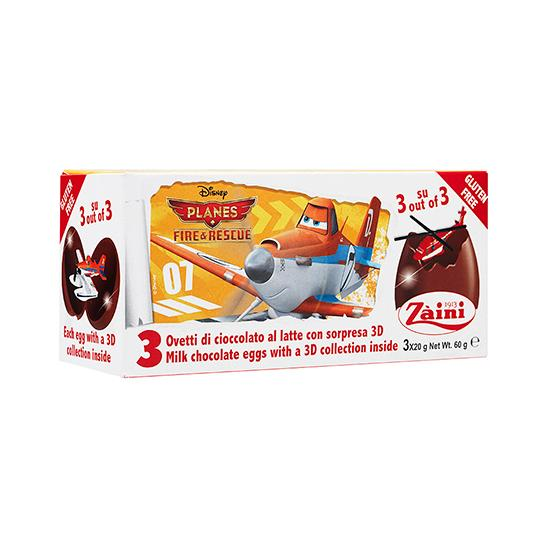 ZA-PLANES FIRE & RES CHOC EGGS 60G