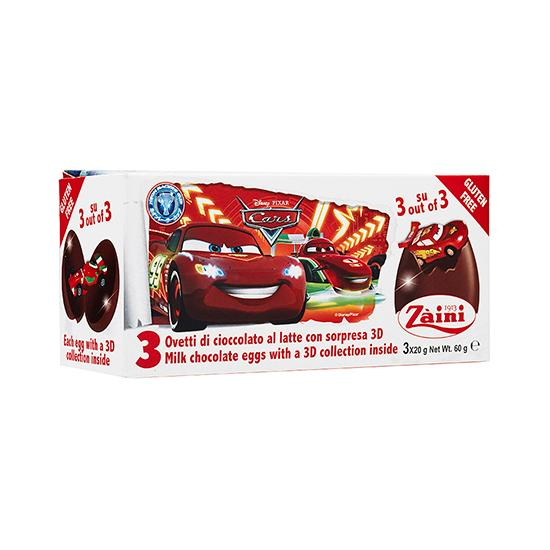 ZA-CARS NEON CHOC EGGS 60G
