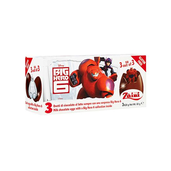 ZA-BIG HERO SIX CHOC EGGS 60G