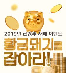 2019 기해년, 황금돼지 행운을 잡으세요!